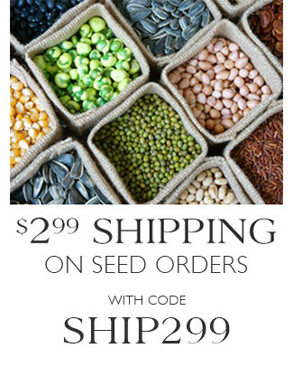 $2.99 Shipping on All Seed! with code SHIP299