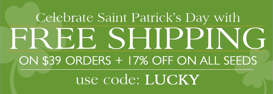Free Shipping on $39 Orders + 17% OFF All Seeds with code LUCKY