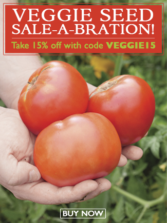Veggie Seed Sale-a-bration - 15% Off all Veggie Seeds - SHOP NOW