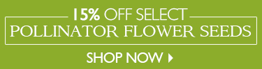 15% Off Pollinator Flower Seeds - SHOP NOW