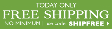 Free Shipping, NO Minimum - use code SHIPFREE