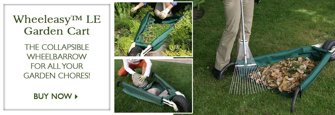 Wheeleasy™ LE Garden Cart - The Collapsible Wheelbarrow for All Your Garden Chores! - SHOP NOW
