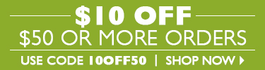 $10 Off $50 Orders with Code 10OFF50