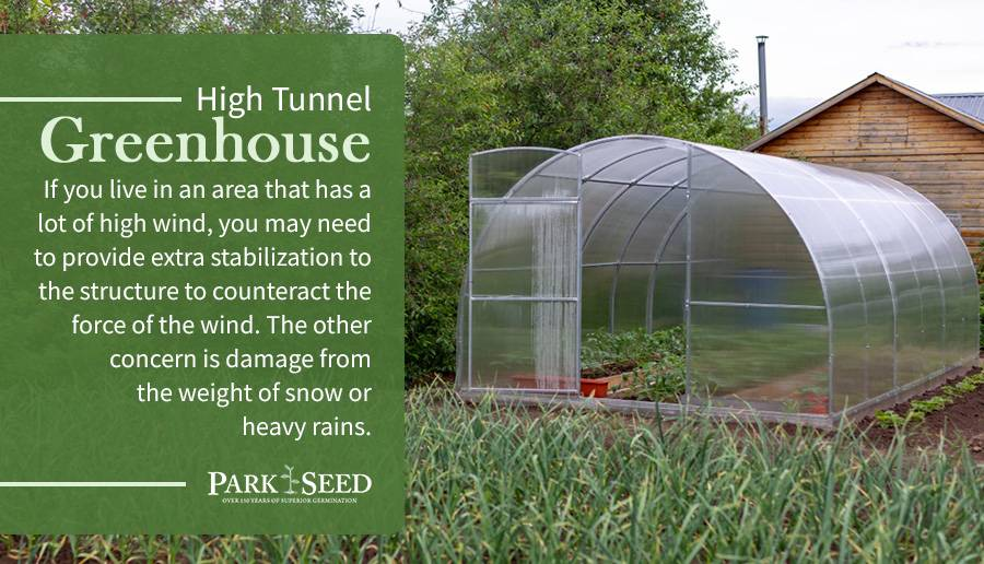 High Tunnel Greenhouse Warning