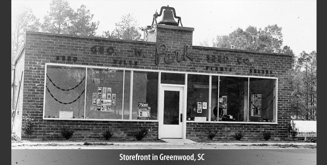 Storefront in Greenwood, SC
