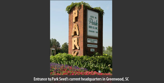 Entrance to Park Seed's current headquarters in Greenwood, SC