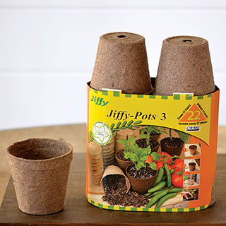Jiffypots® 3-inch Round Biodegradable (Pack of 22)