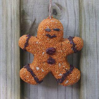 Birdseed Gingerbread Men