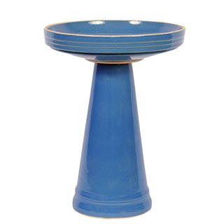 Simple Elegance Blue BirdBath