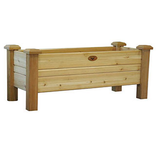 Western Red Cedar Planter Boxes Natural Large