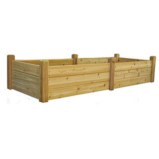 Raised Garden Bed Natural Large