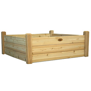 Raised Garden Bed Natural Medium
