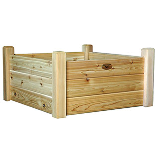 Raised Garden Bed Natural Small