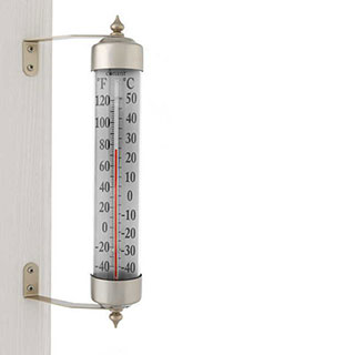 Conant Décor Grande View Thermometer Satin Nickel