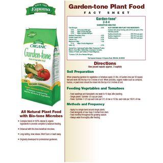 Espoma Organic® Garden-tone® Herb & Vegetable Food Image