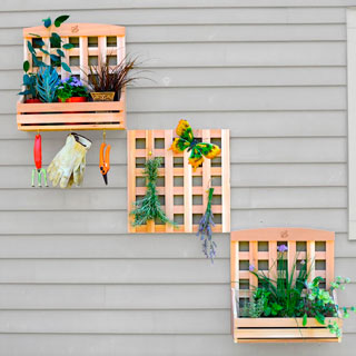 Trellis Caddy Set with Lattice