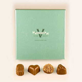 Milk and Dark Chocolate Truffles Gift Box, 8 pieces