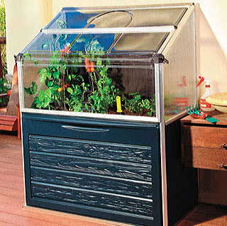 Compact All-in-One Raised Bed Coldframe and Storage Bin