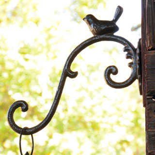 Cast Iron Bird Hook