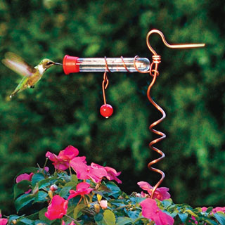 Flowerpot Hummingbird Feeder