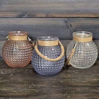 Bubble-Glass Jars Set