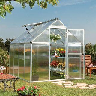 Nature Greenhouse 6 x 8 Silver