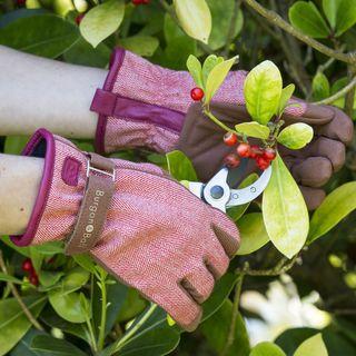 Red Tweed Glove