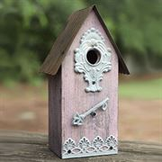Metal/Wood Birdhouse - Purple image