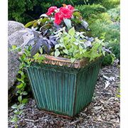 Fluted Square Planter Antique