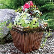 Fluted Square Planter Copper