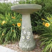Flowering Daisy Birdbath