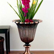 Copper Tulip Urn
