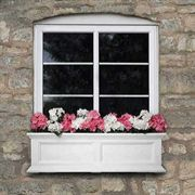 Fairfield Window Box White 3 Feet - <b><font color=bb0000>Free Shipping!</font></b>