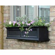 Fairfield Window Box Black 4 Feet - <b><font color=bb0000>Free Shipping!</font></b>