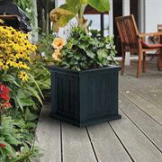 14 x 14 Black Cape Cod Patio Planter <b><font color=bb0000>Free Shipping!</font></b>