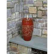 Bordeaux Red Enya Glazed Fire Burner