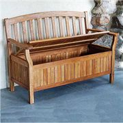 Natural Eucalyptus Storage Bench