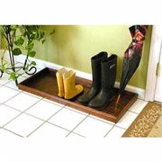 Venetian Bronze Boot Tray - Squares Design