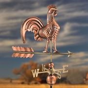 Polished Copper 51 inch Rooster Weathervane