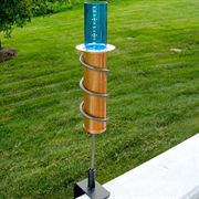 The Worlds Coolest Rain Gauge - 12-inch Deck Mount