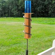 The Worlds Coolest Rain Gauge - 12-inch Fence Mount
