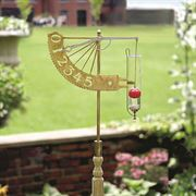 Jeffersonian Rain Gauge Brass