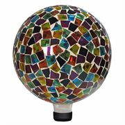 10-inch Mosaic Gazing Ball - Red/Blue/Yellow