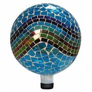 10-inch Mosaic Gazing Ball - Blue/Green/Red