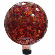 10-inch Mosaic Gazing Ball - Red/Yellow