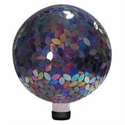 10-inch Mosaic Gazing Ball - Purple