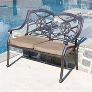 Lista Cast Aluminum Outdoor Bench