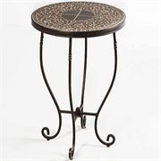 Vulcano Mosaic Round Plant Table