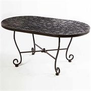Bolla Mosaic Oval Outdoor Coffee Table