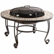 Vulcano Mosaic Wood Burning Fire Pit Table